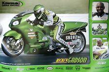 "Rickey Gadson Signed Kawasaki Mini Poster 13""x 19"""
