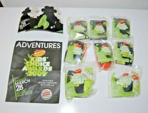 RARE Complete Set of 8 2009 Burger King-Nickelodeon Kid's Choice Awards Blimp