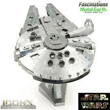 Metal Earth ICONX Star Wars Millennium Falcon 3D DIY Puzzle Model Building Kit