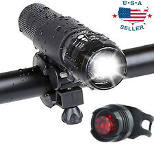 LED Bike Light Set Cycling Headlight and Taillight 3 Modes Front and Rear Light