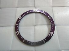 SEIKO PURPLE BEZEL INSERT 38MM FOR SEIKO DIVER'S 7S26,7002,6309,6105,6306 WATCH