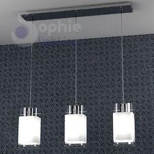 Lampada lampadario sospensione 3 luci pendenti design moderno cromato penisola