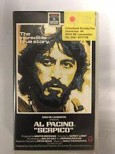 Al Pacino Serpico Ex-Rental Vintage VHS Tape English  dutch subs
