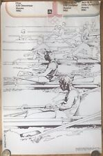 1980 Rare Rare Original vintage Soviet USSR poster Olympic Moscow '80 Rowing