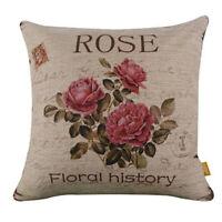Vintage Blumen / Blumenflachs Dekoration Gehaeuse von Kissen Kissenbezug Haus 1I