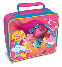 Official Licensed Product Trolls Rectangle Lunch Bag Poppy Fan School Gift