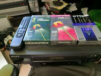 SONY SLV-N60 VCR Video Cassette Recorder VHS Player w/ Remote Control / NEW VHS