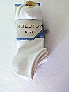 GoldToe Womens 6 pair sport socks shoe size 6-9