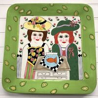 Susan Paley Ladies Club Thanks For The Goldfish Ganz Square Serving Plate