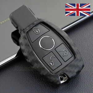 Carbon Fiber Key Cover for Mercedes Key 2 3 Button Fob Remote Case Protect s70cf
