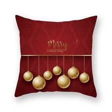 Christmas Throw Pillow Case Cushion Cover Seat Sofa Case Home Bedroom Decor LP