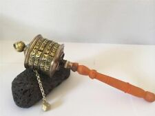 Large Hand Crafted Traditional Tibetan Prayer Wheel with Om Mani Mantra 12 inch