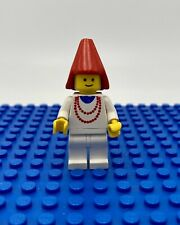 LEGO Vintage Maiden Figure With Necklace Red Cone Hat Minifigure Set 1584 6060
