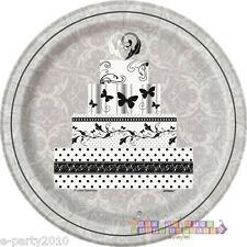 VICTORIAN WEDDING LARGE PAPER PLATES (8) ~ Bridal Party Supplies Dinner Luncheon  sc 1 st  eBay & Paper Anniversary Party Plates | eBay