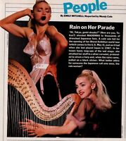 1990 Madonna Rain On Her Parade Tokyo Clipping Snippet Sexy Photo Playing Harp