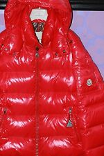 Moncler Maya Wet Shiny Red Puffer Down Coat w/Hood 4-pocket XXL 5 *Limited* WOW!