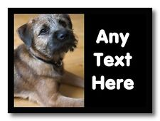 Border Terrier Dog Personalised Computer Mouse Mat