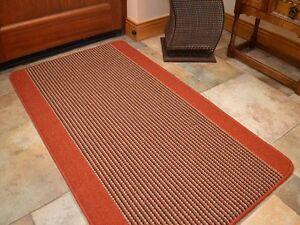 Warm Rust Terracotta Machine Washable Non-Slip Heavy Duty Rugs Rubber Back Mats