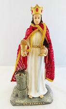 "13"" Inch Santa Barbara St Santa San Religious Statue Figurine Figure"