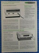 HEATH Digital Frequenzmesser Faltblatt B22410