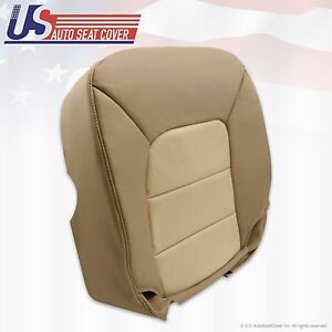 2004 Ford Expedition Eddie Bauer Driver Bottom Leather Seat Cover 2-Tone Tan