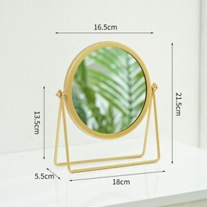 Gold Makeup Mirror Modern Handheld Round Bathroom Bedroom with Table Mirror