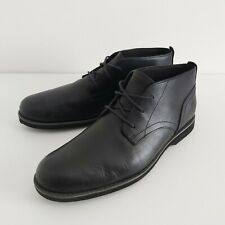Timberland Mens Black Leather Boots with Ortholite Lightweight Soles UK Size 10