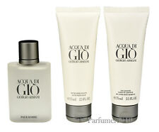 ARMANI ACQUA DI GIO POUR HOMME 50ml edt+75ml SHOWER gel+75ml After Shave Balm