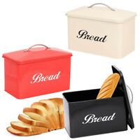 Home Kitchen Large Vintage Style Bread Bin Stainless Steel Food Storage Retro