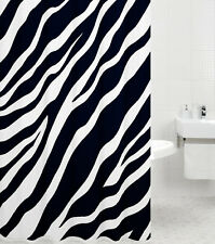 Cortina de ducha textil anti moho badewannenvorhang cortina cebra 180 x 200 cm