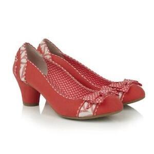 Hayley Coral Ruby Shoo Shoes Orange Pink Vintage 1950s 1940s 1960s