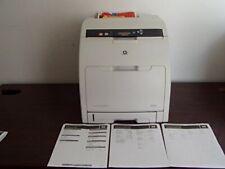 HP LaserJet CP3505X Printer W/Prints  No Toners, Third Tray Nor Paper Holder