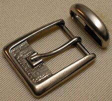 Gürtelschnalle + SCHLAUFE für 3cm breite GÜRTEL in 2 Farben RUSTIKAL Metall TOP#
