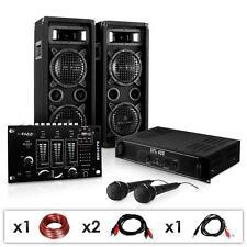 DJ PA PL1180216M Anlage Boxen Lautsprecher Mixer Verstärker Mikrofon 1200w Sound