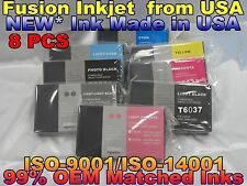 8 NEW Pigment Ink Compatible Cartridge for Epson Stylus Pro 7880 9880 220ml Tank