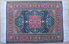 1:12 Scale 25cm x 17.5cm Woven Turkish Rug Doll House Miniature Carpet P24L