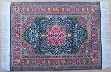 1:12 Scale 25cm x 17.5cm Woven Turkish Rug Doll House Miniature Carpet P24L