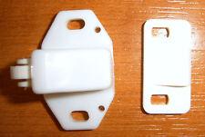plastique à rouleau pour armoire portes & verrou blanc caravane camping car
