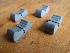 X 4 faders potentiomètre bouton pour table de mixage 4 mm GRIS X 4 NEUF