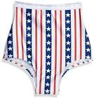 Women's Patriotic High Waisted, Ticker Tape Print, Size One Size gmmQ