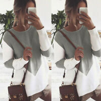 New Women Knitted Long Sleeve Sweater Top Ladies Blouse Oversize Jumper Pullover