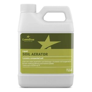 LawnStar Liquid Soil Aerator -Loosens & Conditions Compacted Soil -US Made -32oz