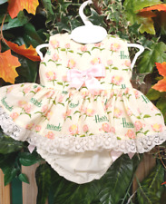 DREAM 0-4 YEARS BABY GIRLS HARRODS  PINK ROSES SUMMER  TOP AND KNICKERS  SET