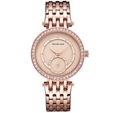 Taylor Cole Women's Lady Stylish Stainless Steel Skeleton Quartz Wrist Watch