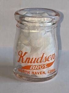"Vintage ""KNUDSEN BROS., NORTH HAVEN, CONN.,"" EARLY 50's, Dairy Creamer Bottle."