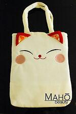 Chirimen Maneki neko lucky cat cute japanese kimono crepe Tote Bag Handbag