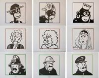 Hergé (Según ) : Tintin - Las Personajes (2) - 9 Litografías Ex Libris #2011