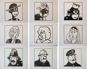 Herge (By) : Tintin - The Characters (2) - 9 Lithographs Ex Libris #2011