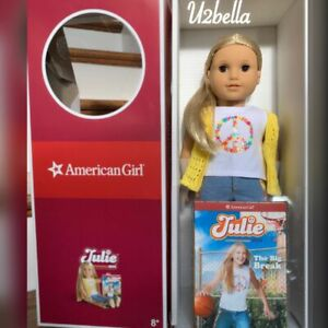 """American Girl Doll Julie Albright & Book 18"""" inch Doll  New"""