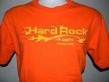 MENS HARD ROCK CAFE HONG KONG T SHIRT MEDIUM ORANGE